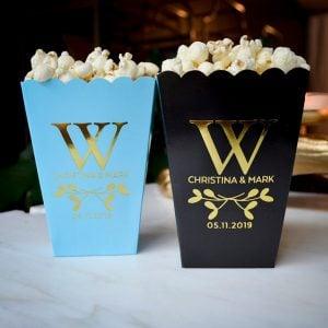 monogrammed popcorn boxes
