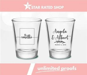 shot glass favor