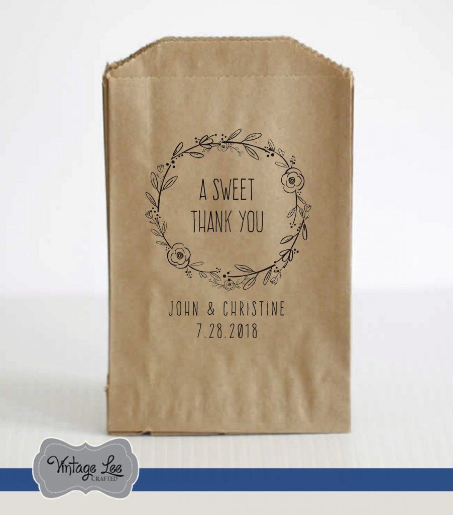 sweet wedding favor bag