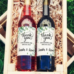 wine label wedding favor