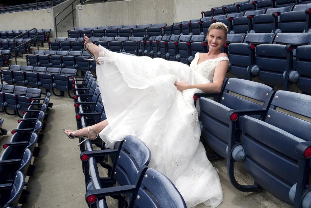 sport stadium wedding