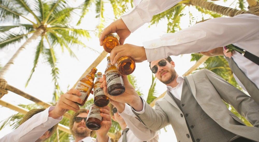 groomsmen on wedding day