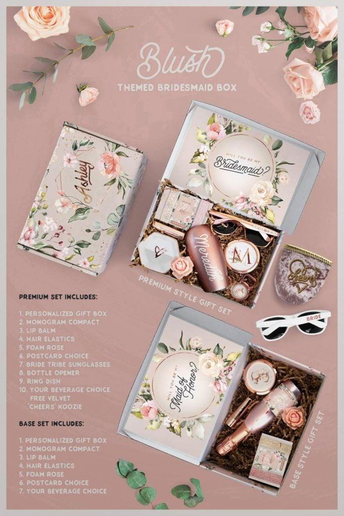 bridesmaid box etsy