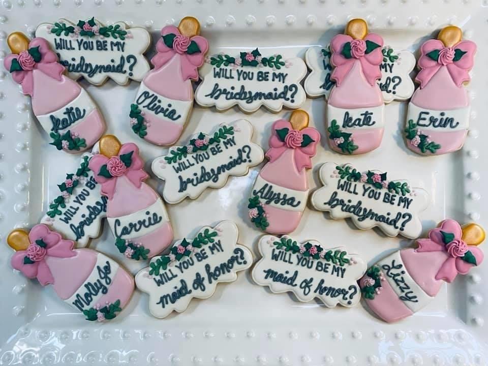 bridesmaid proposal cookie