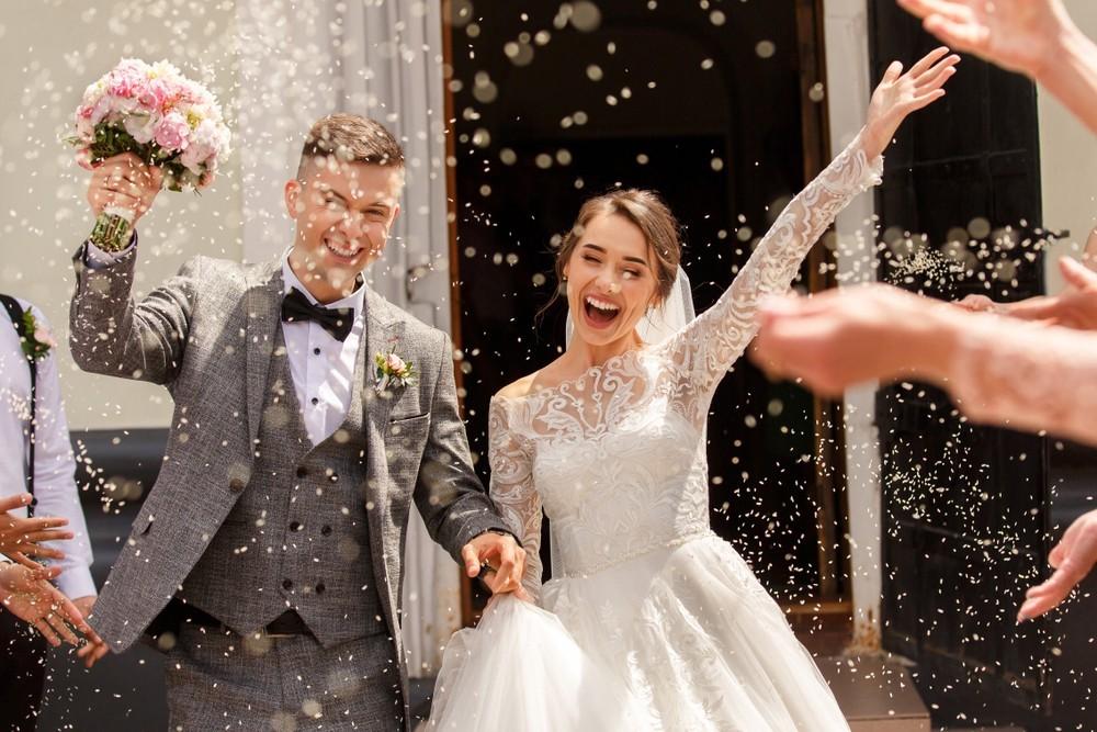 documentary style wedding photo