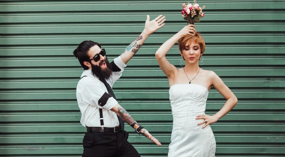 silly wedding photo