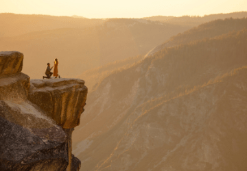 yosemite engagement photo
