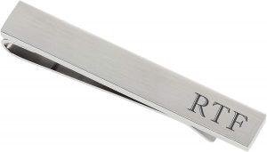 engraved tie clip