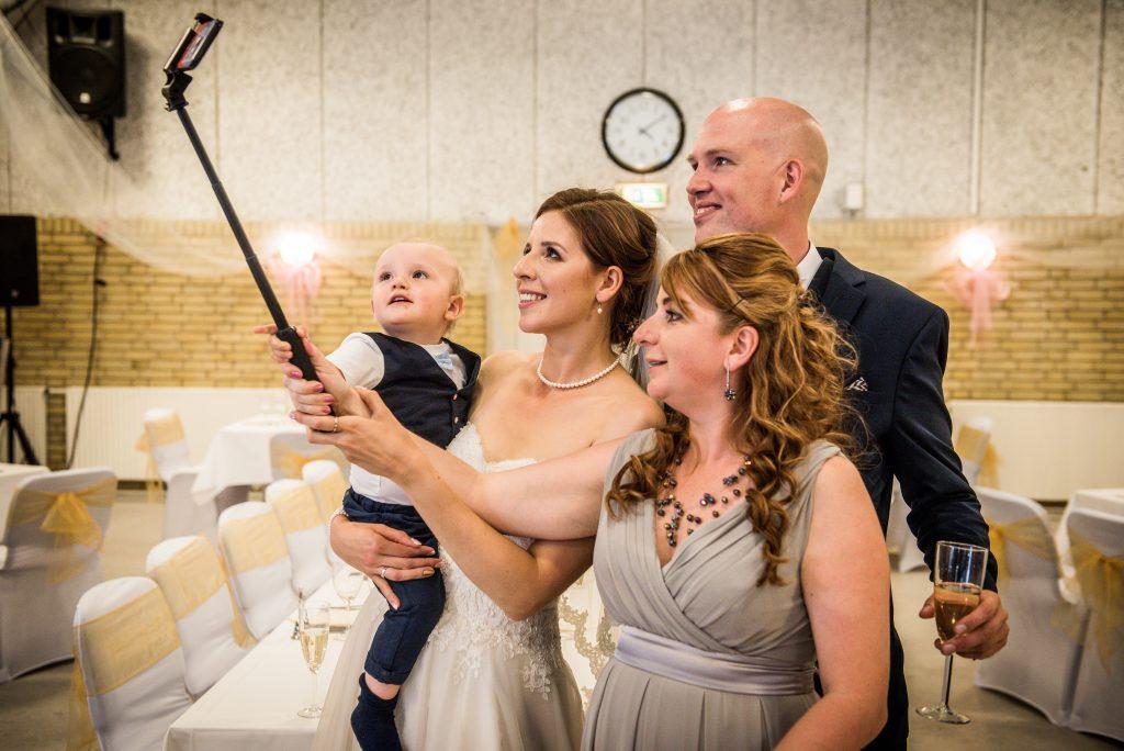 bride mingling