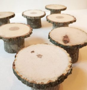wooden cupcake stands