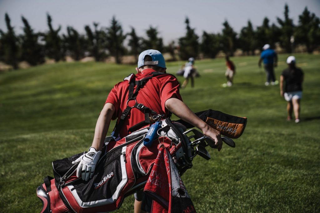 golfing during a bachelor party