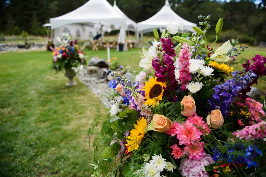 outdoor wedding setups