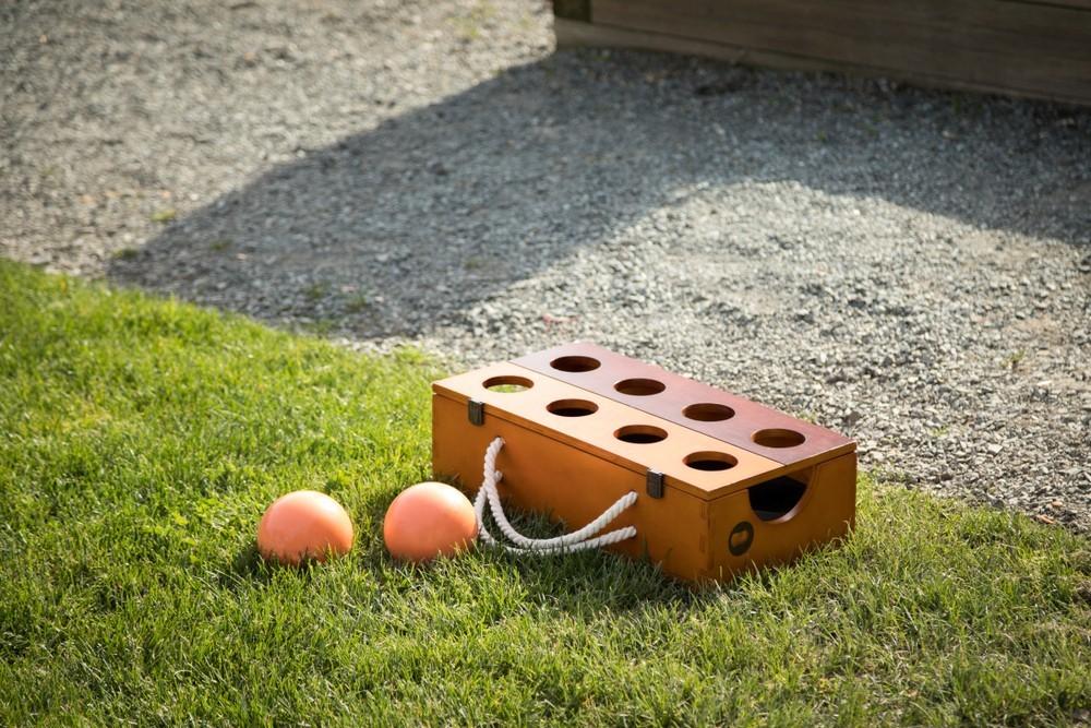 bocce ball on grass