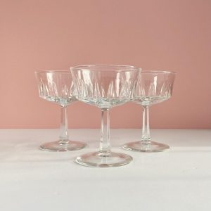 crystal dessert glasses