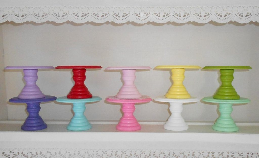 colorful cupcake stands