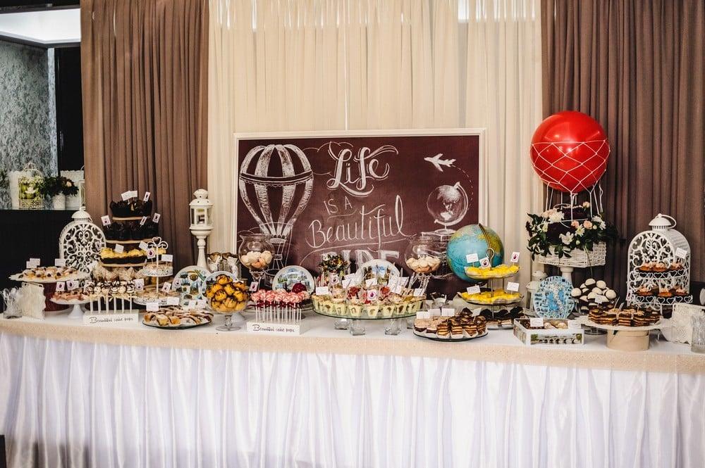 travel dessert table