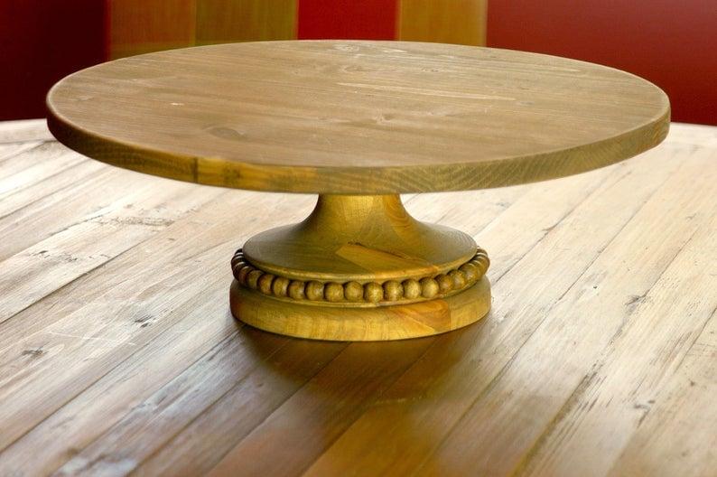 wooden dessert stand