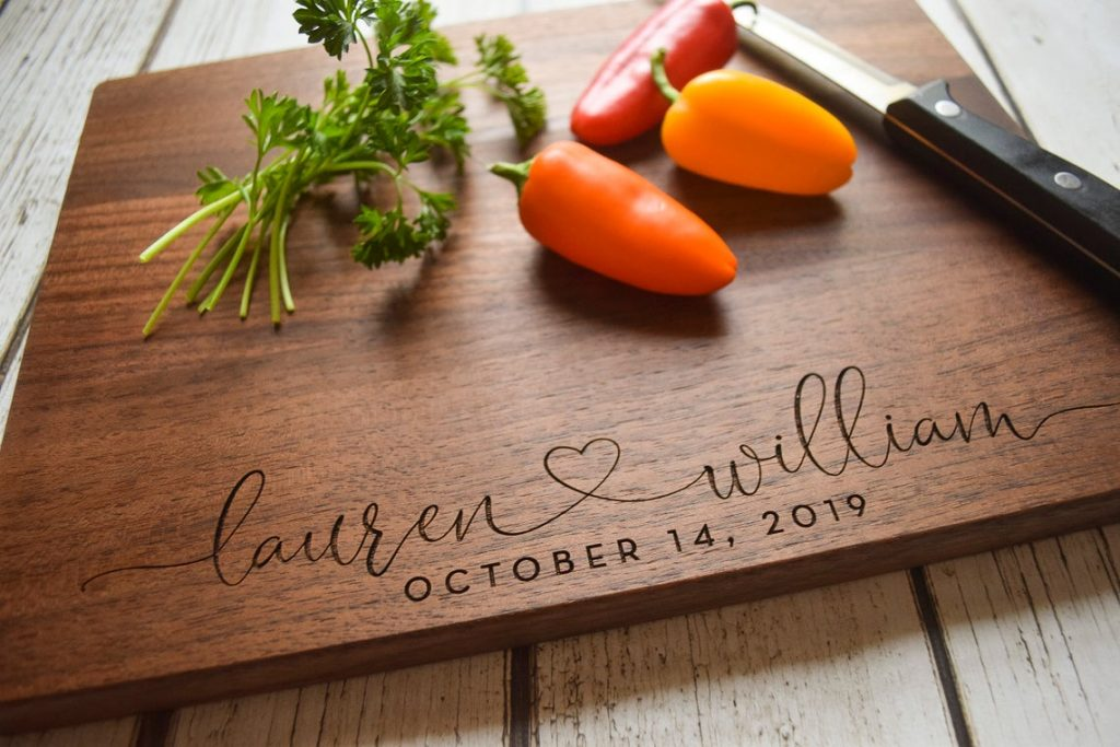engagement cutting board