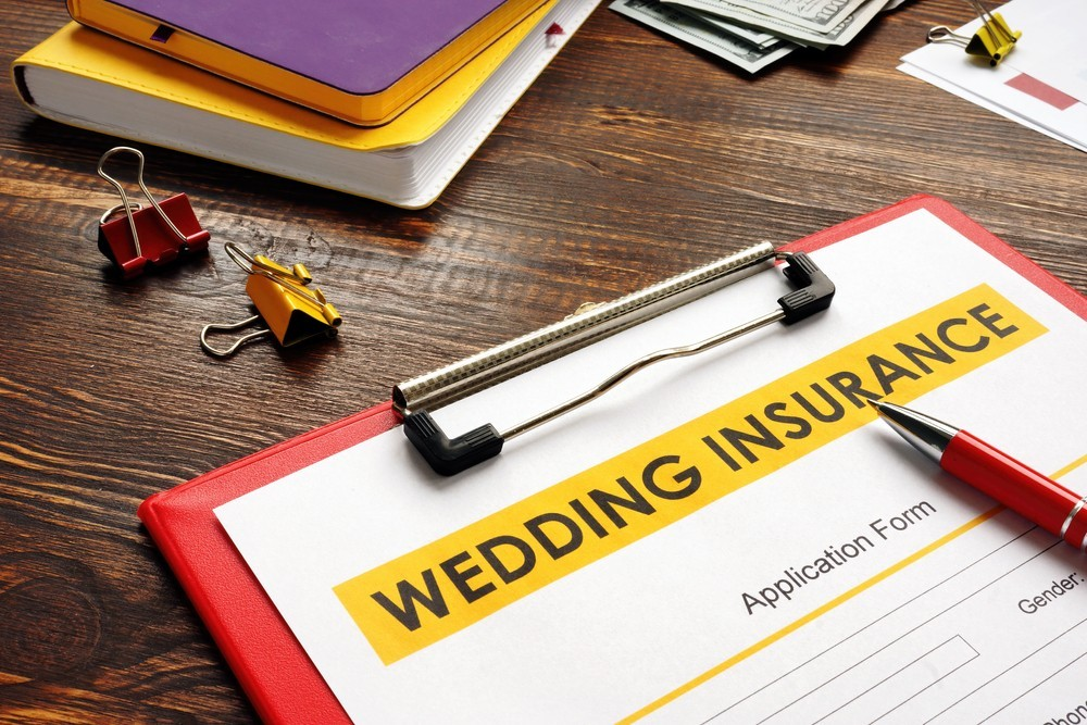 a picture of a wedding insurance policy