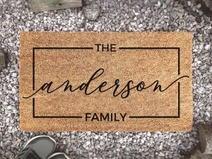 last name custom doormat