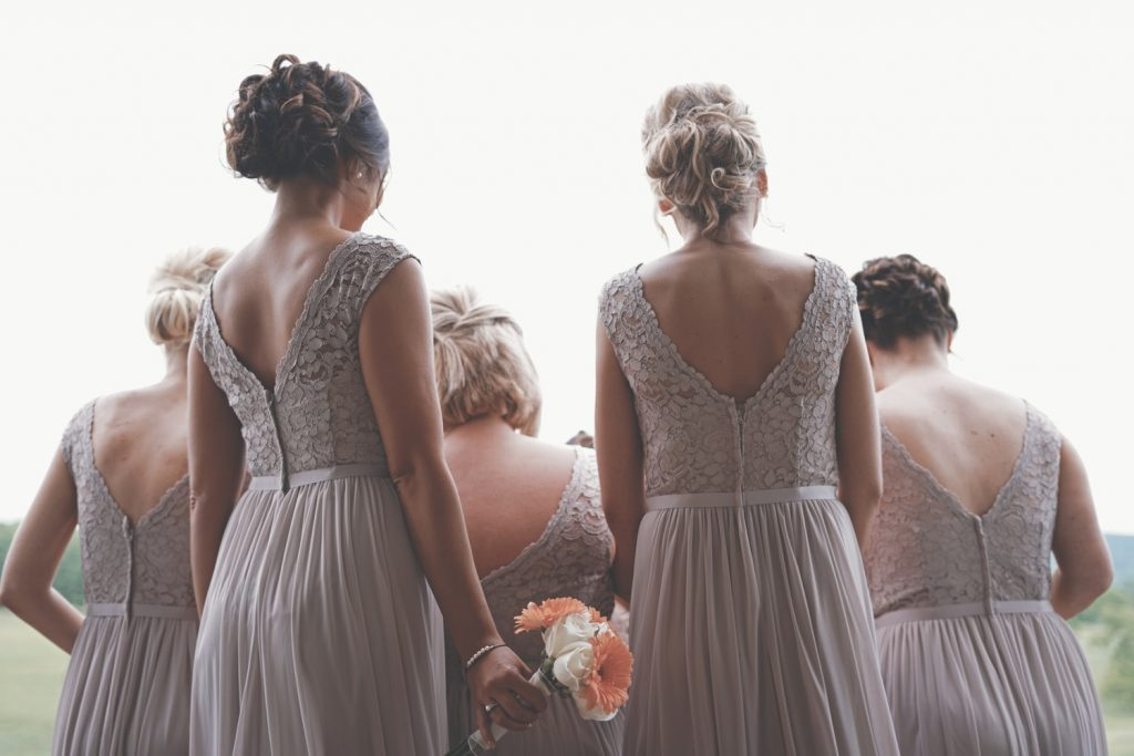 various makeup and hairstyles for bridal party