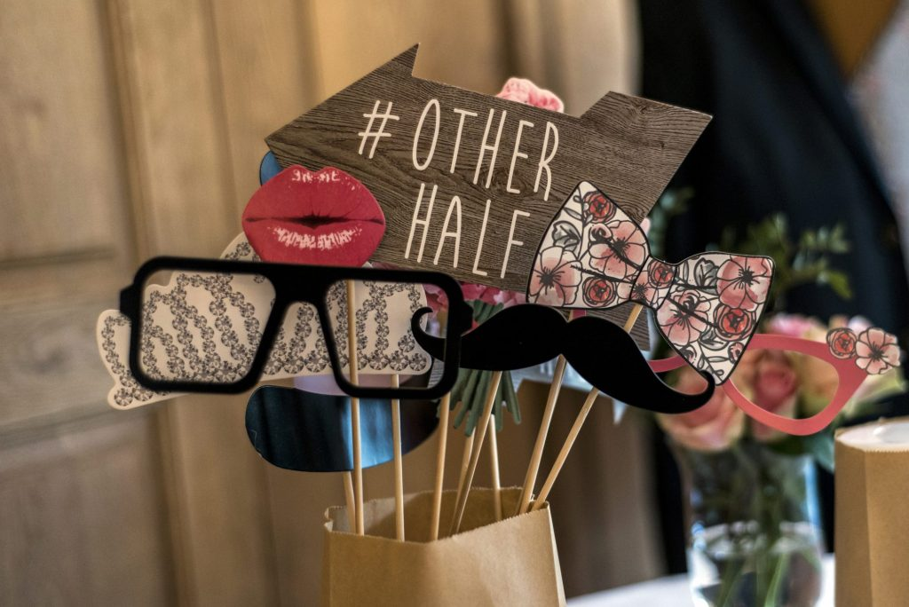 engagement photo booth props