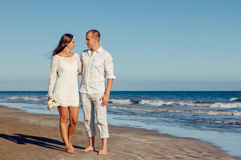 couple casual on beach