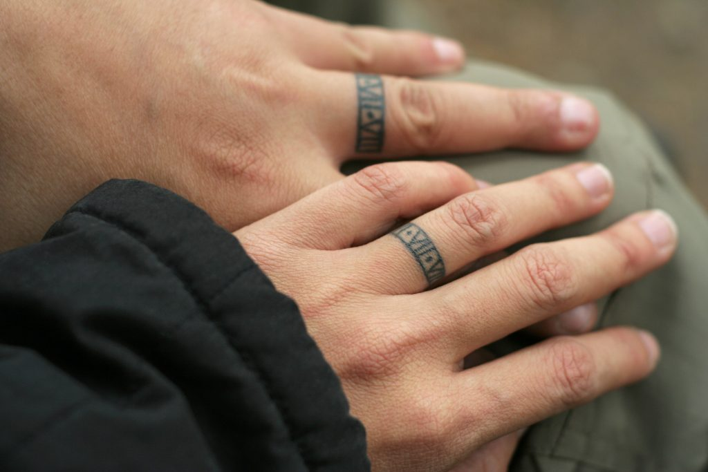 wedding band tattoos