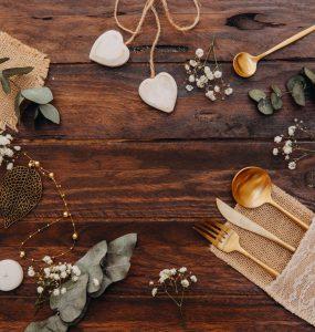copper wedding table