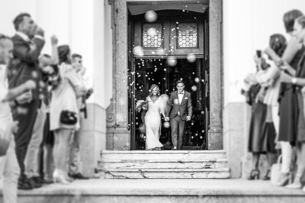 wedding exit as a couple