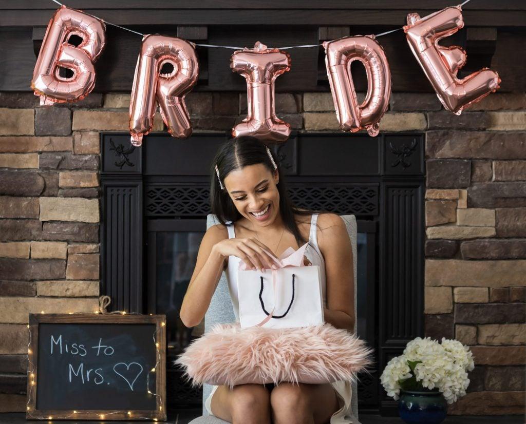 bridal shower gift table