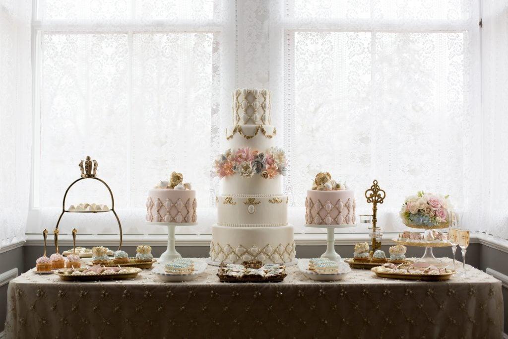 cake at bridal shower
