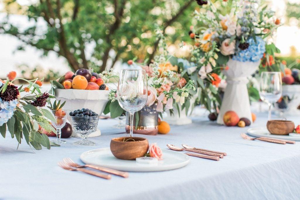 fruit platter at wedding